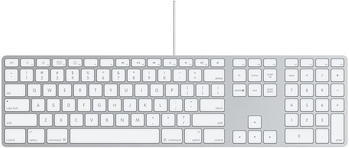 Apple's New Wired Aluminum Keyboard