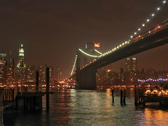 Brooklyn night - New York (Ubierno) Tags: new york bridge brooklyn night river lights luces noche manhattan east nueva ubierno dazzlingshots