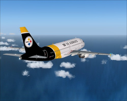 Airbus 319 Pittsburgh Steelers by connie1649.