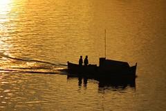 Domando as guas (Eduardo Amorim) Tags: sunset brazil southamerica brasil atardecer boot boat fisherman barca tramonto barco sonnenuntergang fishermen prdosol pelotas bateau pcheur riogrand