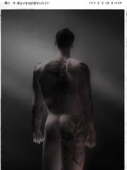 Nathan's Fundoshi (ayncarling) Tags: life bw male tattoo japanese model nathan secondlife second babcock fundoshi ayn carling