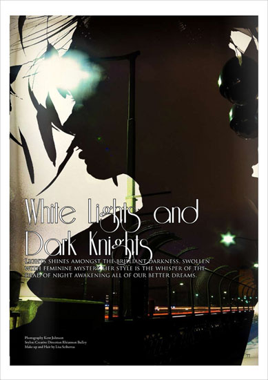 Issue 3, White Lights Le Mag Photographed by Kent Johnson.
