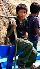 Mayan village boy on boat, Bethel, Guatemala (Mikey Stephens) Tags: guatemala bethel mayanvillage usumacintariver boyonboat