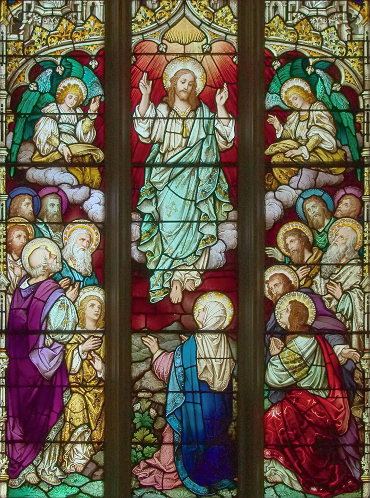Saint Alphonsus Liguori Roman Catholic Church, in Saint Louis, Missouri, USA - stained glass window of the Ascension