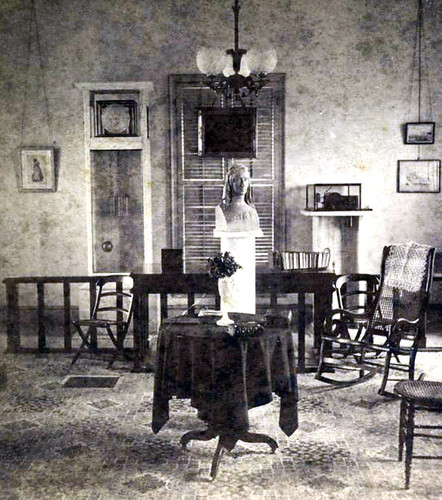 Mitchell placed the Somerville bust in the Clock and Chronograph Room in the Observatory.