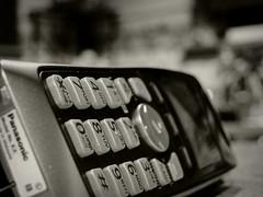 Phone Monochrome (Truebritgal) Tags: bw white black macro monochrome up closeup blackwhite dof close monotone household truebritgal