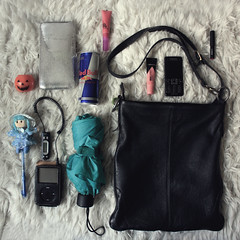 What was in her bag ? on October 2010 (donchris!™) Tags: red halloween project bag is pod october energy doll ipod drink sac bull her purse what 12 bolsa borsa 2010 tasche torba
