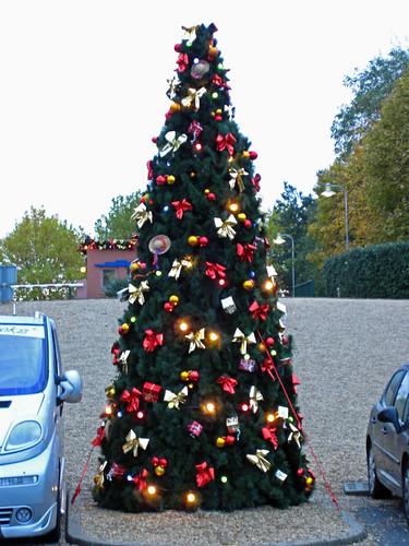 Christmas tree on Halloween = FAIL