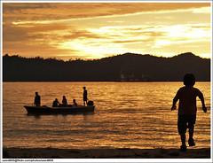 Senja di Pantai (sam4605) Tags: pantai senja sunset beach seascape landscape pemandangan scenery sea laut ode ums kotakinabalu sabah sabahborneo borneo malaysia olympus e1 zd ed 70300mm