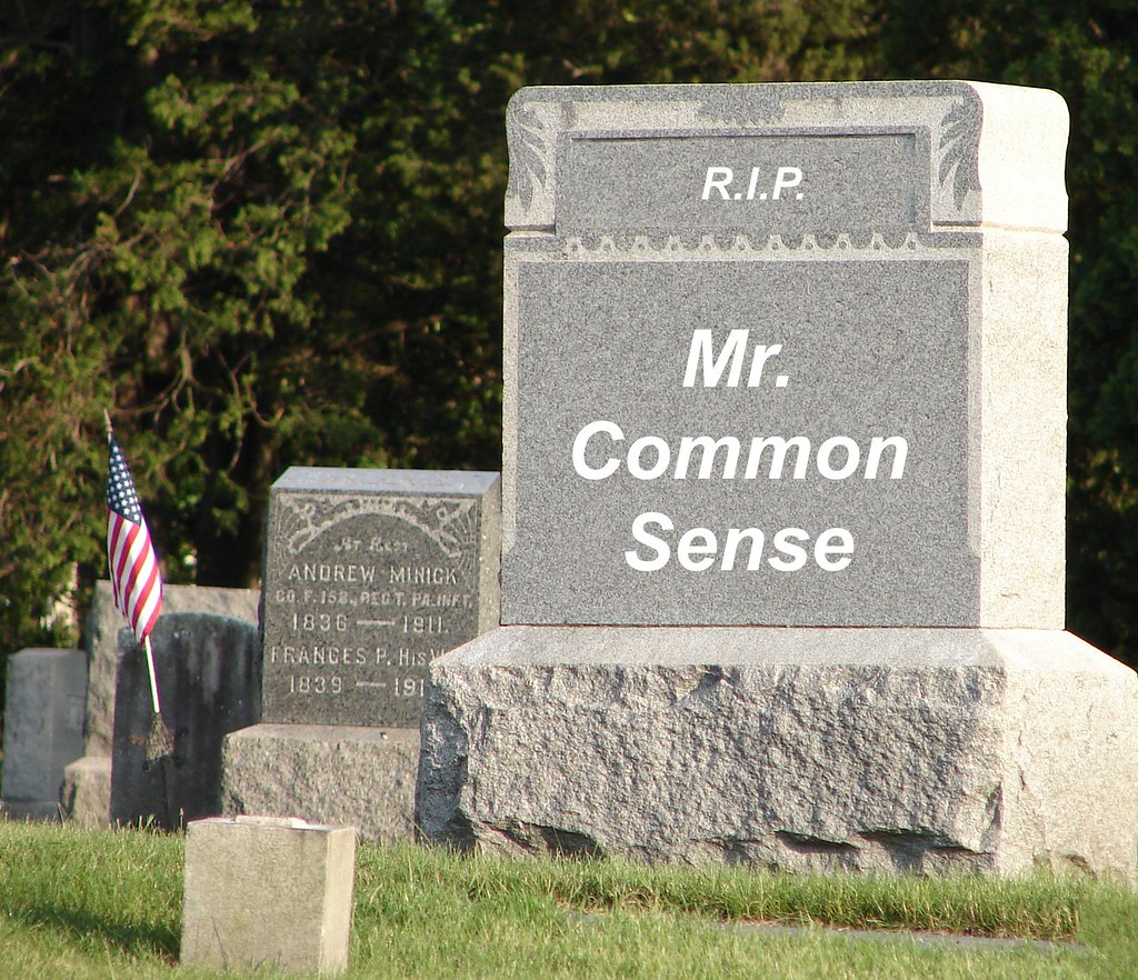 Common Sense Obituary