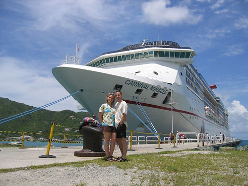 Ellen and Dan on their honeymoon Carnival Cruise