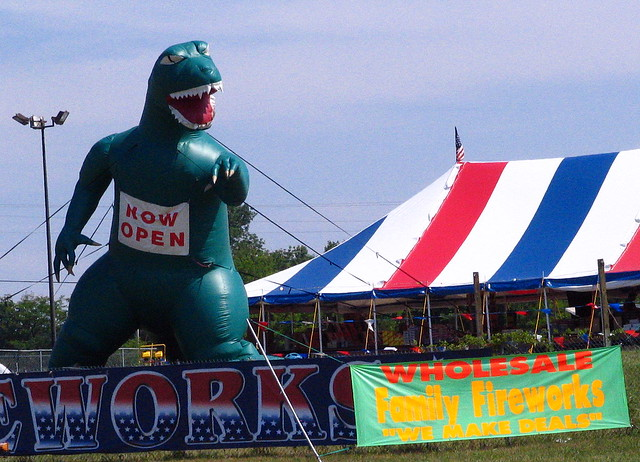 The Inflatable Dinosaur that will eat you...