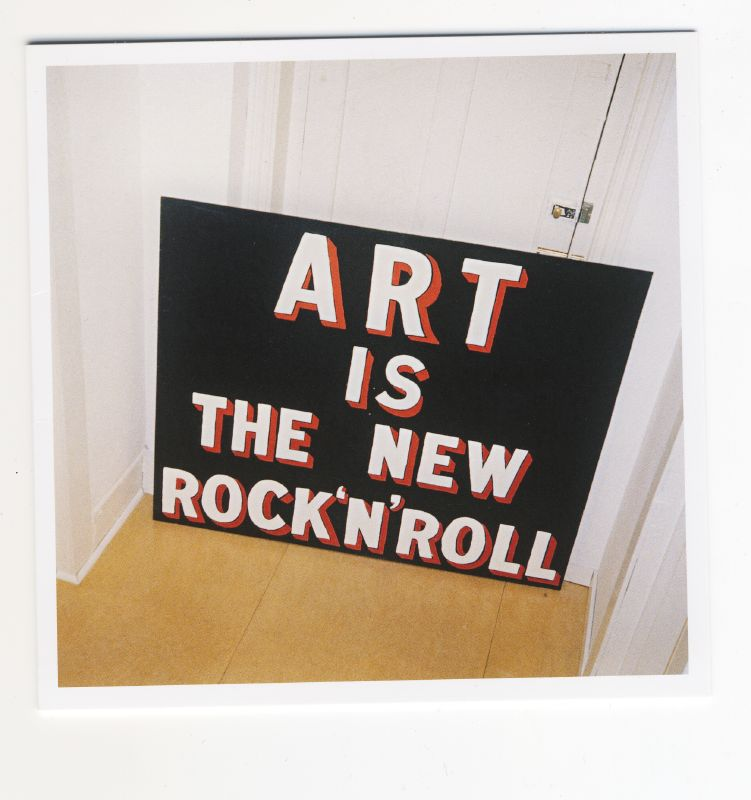 art is the new rock and roll