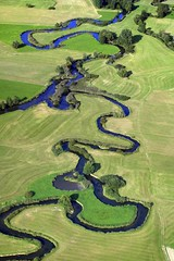 Vils (Aerial Photography) Tags: blue green water river germany bavaria meadow aerial meander agriculture floodplain vils