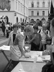 Trnica, Lj., pretzel maker (Susan&Joe) Tags: old city ljubljana ljubljanica trnica