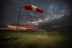 Sidewind ... (asmundur) Tags: game colors night evening iceland football goal airport bravo wind empty soccer rok 2007 hsafell 3xp slsetur vesturland worldphotodoc2007 manualdynamicrangeincrease