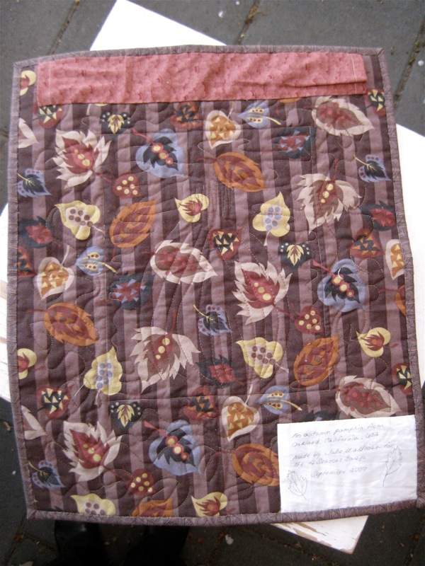 Autumn Quilt Back