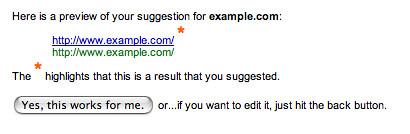 Google Suggest URL Feature