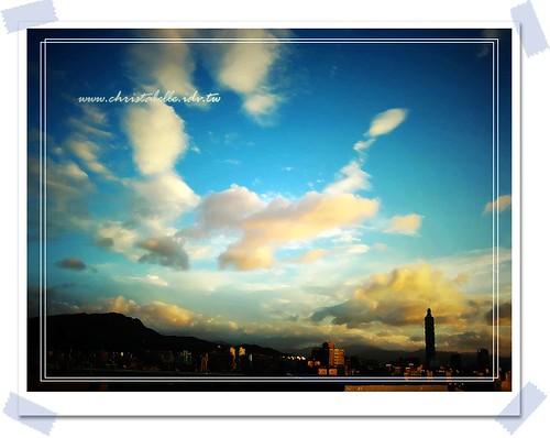 0920柔和夕陽天  遠眺台北101 lomo 風格