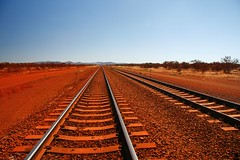 Red Rails at Rosella (Mark_Coates) Tags: red copyright c riotinto railway australia western rails allrightsreserved ironore pilbara twtmeiconoftheday markcoates platinumheartaward rtio thisisaflickrphoto gmcoates beautifulworldchallenges riotintoironore availableforuseunderlicense