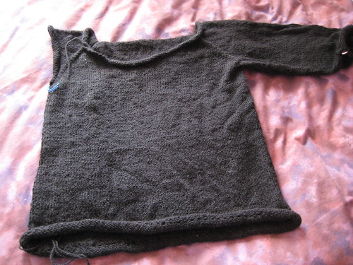 black alpaca sweater