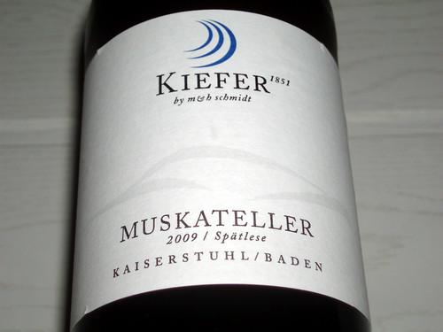 2009 Eichstetter Herrenbruck Muskateller Spätlese Weingut Friedrich Kiefer Eichstetten am Kaiserstuhl - Etikett