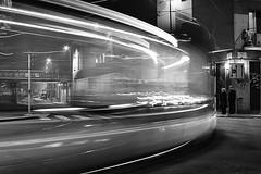 (24) (Donato Buccella / sibemolle) Tags: longexposure blackandwhite bw italy motion milan night milano flash streetphotography tram atm viatibaldi sibemolle mg5268 decisamentesociologicamontgolfier