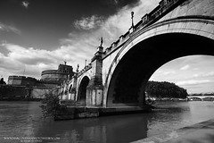 Sant Angelo ponte (menestrello) Tags: bw roma monocromo ponte menestrello marcosanna sistemazonale marcosannaphoto