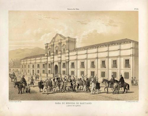 025-Casa de la Moneda de Santiago y presos de la policia-Atlas de la historia física y política de Chile-1854-Claudio Gay