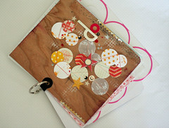 decdaily10 (explored) (vee*) Tags: holidays paint stamps circles minibook woodgrain decdaily