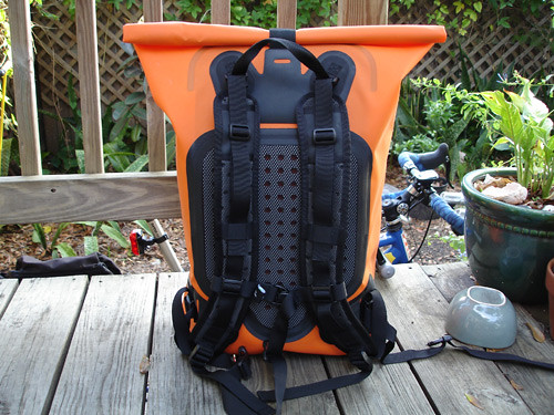 The shoulder harness -- padded and ventilated!