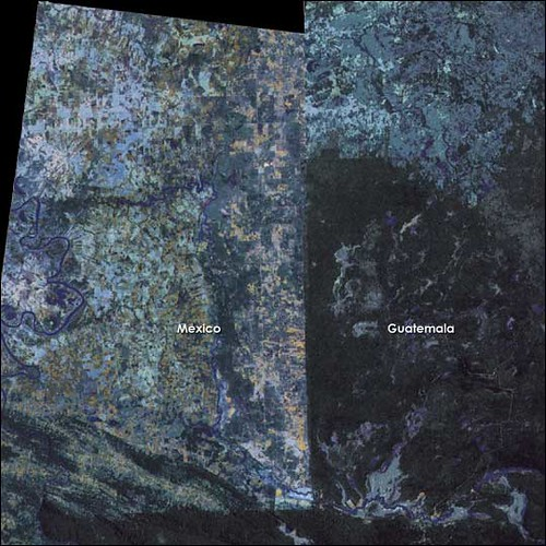 The Border between Mexico and Guatemala from Space