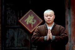 Meditating...... (Luo Shaoyang) Tags: china portrait nikon action religion chinese monk buddhism  pingyao madeinchina  luo       actionphotos nikond200 luoshaoyang wutaishang