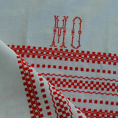 cross stitch redwork