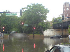 Jeep Cherokee had to be towed (mikepix) Tags: chicago flood sony cellphone