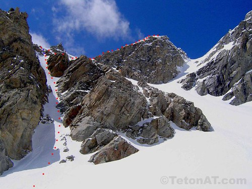 Dike Pinnacle to Koch's Couloir on the Middle Teton