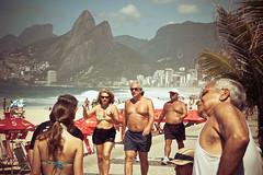 Limbering Up (theGentleman) Tags: old morning travel family baby man beach 2004 brasil america nikon child exercise d70 photos south cheeky nikkor stroll ipanema thegentleman cheekyphotoscouk