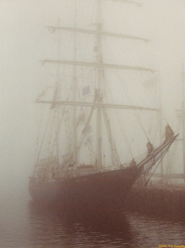 Tall Ship in the fog 1995-08 01 (Crop 1) / Dragon Master