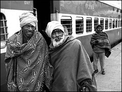 Two happy companions (Helmut Schadt) Tags: india punjab ludhiana indianrailways abigfave diamondclassphotographer flickrdiamond excellentphotographerawards