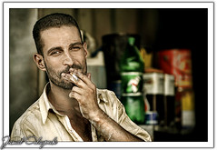 Have a Brake .. Have a Cigarette (Jamal Alayoubi) Tags: man nikon cigarette smoke garage smoking brake 28 kuwait d200 nikkor 70200 7up aplusphoto kuwaitartphoto