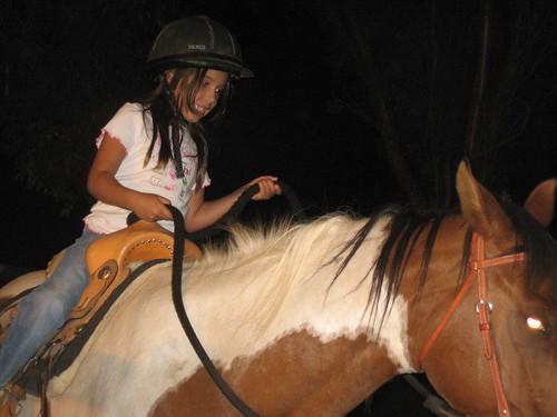Violet riding