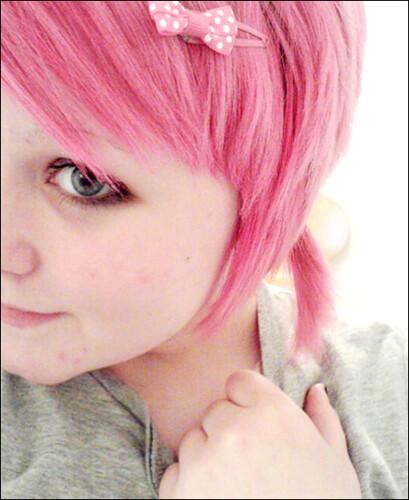 Pink hair!