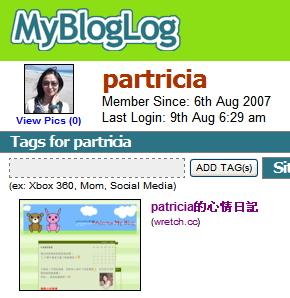 容容在MyBlogLog