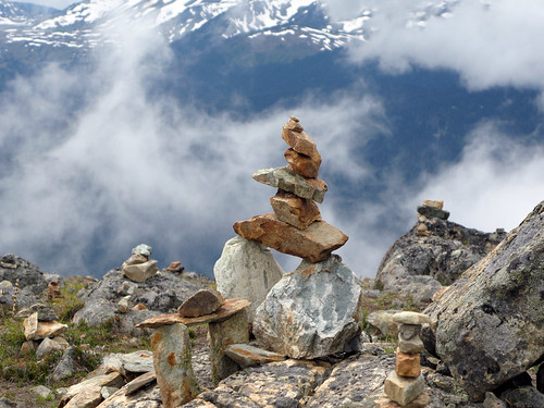 Inuksuit near Harmony Peak