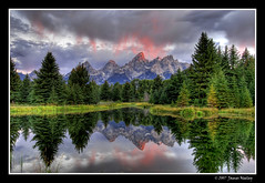 Fresh Paint (James Neeley) Tags: morning mountains sunrise landscape pond bravo quality explore wyoming tetons hdr grandtetonnationalpark themoulinrouge naturesfinest schwabacherslanding 5xp flickrsbest mywinners jamesneeley
