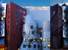MIT reflection (joiseyshowaa) Tags: gehry frankgehry architecture architect stata gates dreyfoos campus mit massachusetts institute technology university classroom statacenter dawn building boston cambridge mother challenge joiseyshowaa joiseyshowa twilight bigmomma graduate school windows grad college post innovation high tech