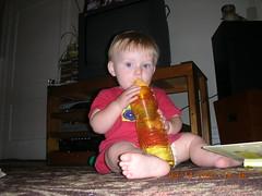 one of his fav bottles (nikki_super*) Tags: baby ten month