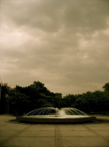 Fountain on Toronto Island