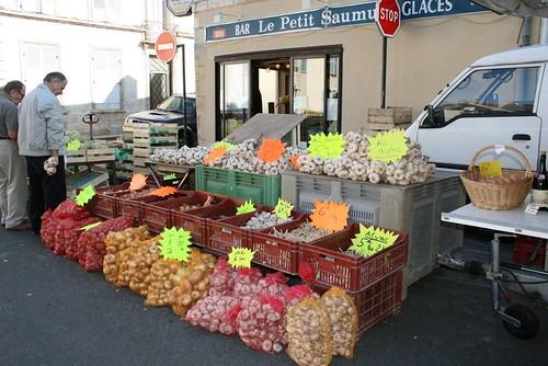 garlic stall