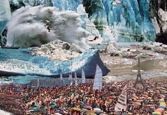 Life's a beach/ France in 2050(detail): a collage by Adrian Kenyon (adriansalamandre) Tags: holiday france ball fun penguin play killer whale iceberg walrus warming global lifesabeach makers artcollage 2050 adriankenyon icebergsplash